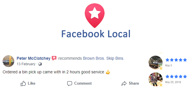 Facebook Local Reviews