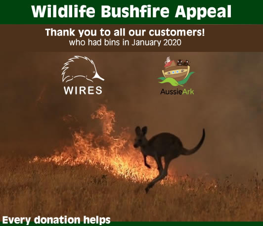 Thank You Brown Bros. Skip Bins Wildlife Bushfire Appeal