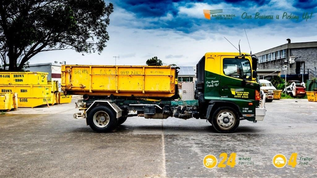 4m3 – Hook Skip Bin Hire Sydney on truck