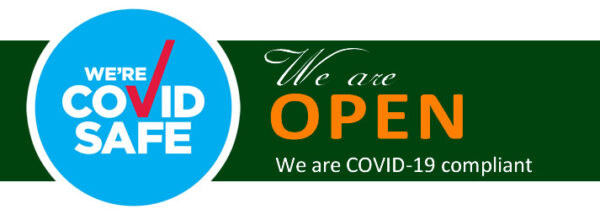 We are OPen & Covid Safe
